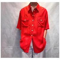 1980s ユーロヴィスコースドット柄シャツ