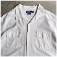 "1990s ""Ralph Lauren STEWARD"" コットンオープンカラーシャツ"