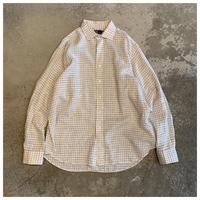 """1990s """"Ralph Lauren"""" オーバーサイズリネンプレイドシャツ"""