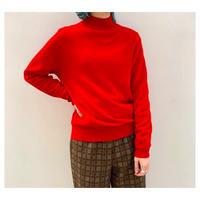 【レディース】1990s モックネックカシミアニットセーター