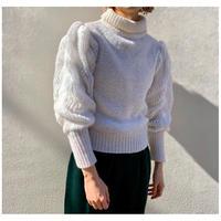 【レディース】1980s ボリュームスリーブニットセーター