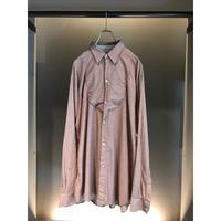 L/S cotton stripe shirt ピンク/グレー 表記M