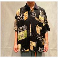1990s レーヨン総柄シャツ