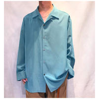 1990s ポリオープンカラーシャツ イングランド製
