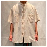 1990s スタンドカラーデザインシャツ