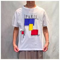 """1980s """"LA CITE"""" プリントTシャツ フランス製"""