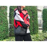 【レディース】ヴィンテージ モヘアデザインニットセーター