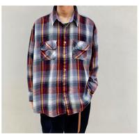 1990s オーバーサイズシャドープレイドシャツ
