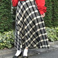 """80s """"ANNE KLEIN"""" wool circular maxi skirt"""
