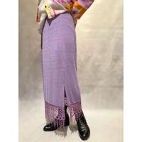 【レディース】1980s ポリクロシェデザインスカート USA製