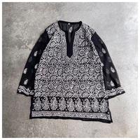 【レディース】1990s シアー刺繍チュニック
