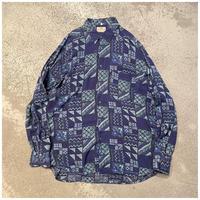 1990s レーヨン総柄シャツ イタリア製