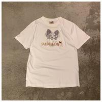 "1990s ""PAPILLON"" 刺繍Tシャツ"