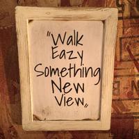 "Wall Mini Frame ""Walk Easy. Something New View"""