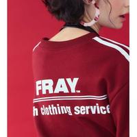【Fray】FRESH CREWNECK SWEATER BURGUNDY