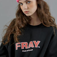 【FRAY】FRAY DIAGONAL LOGO CREWNECK - BLACK