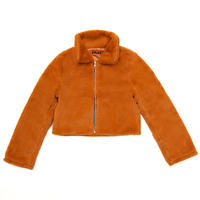 【Fray】FLEECE FUR JACKET CAMEL
