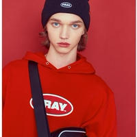 【Fray】BIG LOGO PULLOVER HOODIE RED