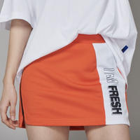 【Fray】FRAY LINE SKIRT ORANGE