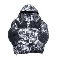 【IMXHB】 TORN PICTURES HEAVY WEIGHT DUCK DOWN JACKET - WHITE/BLACK