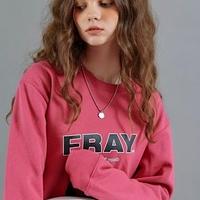 【FRAY】FRAY DIAGONAL LOGO CREWNECK - DARK PINK