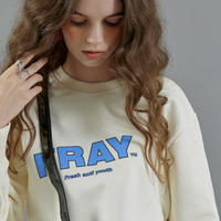 【FRAY】FRAY DIAGONAL LOGO CREWNECK - CREAM