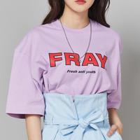 【Fray】FRAY BIG LOGO T-SHIRTS PEACH