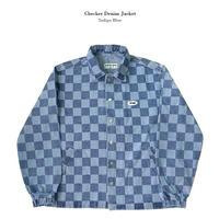 【Fray】Checker denim jacket