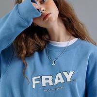 【FRAY】FRAY DIAGONAL LOGO CREWNECK - DARK BLUE