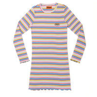 【Fray】FR STRIPE SLIM DRESS sky blue  Stripe