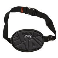 【Fray】FRAY LEATHER WAIST BAG BLACK