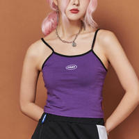 【Fray】FRAY SLEEVELESS CROP TOP PURPLE