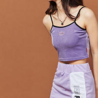 【Fray】FRAY SLEEVELESS CROP TOP LIGHT PURPLE