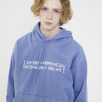 【IMXHB】Basic Logo Hoody - Dust Blue