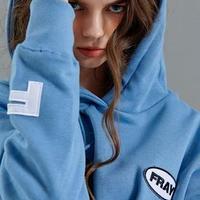 【FRAY】OVAL LOGO HOODIE - DARK BLUE