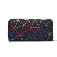 海外ブランド 人気 キレイ 財布 3Color  レディース 可愛い 安い 上品 キレイ レザー カジュアル モード コーデ ストリート パンク  幾何学模様 キラキラ  W-223