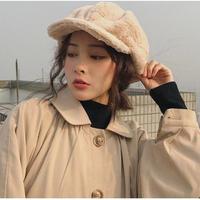 4Color 海外ブランド 人気  「冬 あったか ふわもこ キャスケット レディース」 帽子 大人可愛い ビンテージ レトロ キレイ フェミニン カジュアル モード コーデ