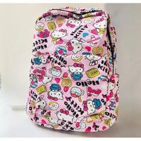 2 Color 海外 ブランド 人気 バックパック ハローキティ 大容量 可愛い 旅行 バックパック女子 キャラクター ピンク 黒  大学生 アウトドア シンプル コーデ