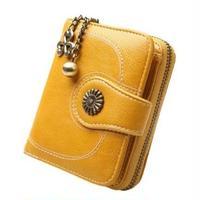 6Color 海外 ブランド 人気 二つ折り 財布 レディース シンプル 使いやすい キレイ レザー 安い プチプラ コーデ 可愛い財布 シンプルな財布 おしゃれ おすすめ