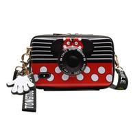 2Color 海外ブランド 人気  オシャレ 可愛い ミッキーマウス「カメラ型バック」 ショルダーバック レディース 大人可愛い フェミニン パンク 使いやすい 安い バック B- 1508