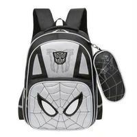 3 Color 海外 ブランド 人気 スパイダーマン リュック 男の子 反射 軽量 通気性 水はじく バックパック キッズ かっこいい マーベル 遠足 通園 レッスンバック 公園 旅行
