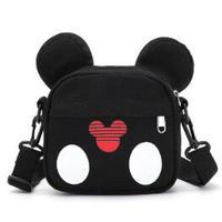 4Color 海外ブランド 人気  オシャレ 可愛い キッズ ミッキーマウス ディズニー 使いやすい 旅行 バック 女の子 子供 キャンバス 肩掛け クロスボディバッグ B2178