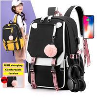 5Color 海外ブランド 人気  オシャレ 大容量 バックパック 可愛い レディース 通勤 通学 旅行 学生 使いやすい 安い バック USB充電  防水 スクールバッグ  B2158