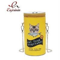 2Color 海外ブランド 人気  オシャレ 可愛い 「猫缶 ショルダーバック レディース」 大人可愛い フェミニン パンク 使いやすい 安い バック B-1810