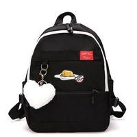 4 Color 海外 ブランド 人気 バックパック レディース ぐでたま サンリオ おしゃれ 可愛い 学生バック 使いやすい リュック 旅行 お出かけ 黒