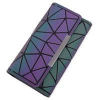 海外ブランド 人気 キラキラ 財布 3Color  レディース 可愛い 安い 上品 キレイ レザー カジュアル モード コーデ ストリート パンク 幾何学模様   W-221