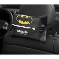 3Color 海外ブランド 人気  雑貨 テッシュケース カバー バットマン スーパーヒーロー レザー 高級感  車 インテリア ラグジュアリ 使い方いろいろ 冬 風邪  T124