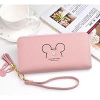 6Color 海外 ブランド 人気 財布 レディース 長財布 キャラクター ミッキーマウス ディズニー シンプル 可愛い レザー おしゃれ 安い プチプラ 使いやすい