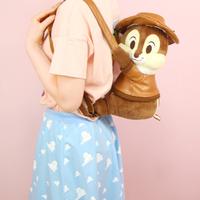 海外 ブランド 人気 リュック バックパック レディース 女の子 キャラクター ぬいぐるみ ぬいぐるみ旅行 ディズニー チップ デール リス 可愛い バックパック女子 レザー ジャケット
