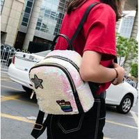 5Collar 海外ブランド バックパック キラキラスパンコールの☆がCute♪ 夏 人気 学生 キッズ レディース 海外輸入品